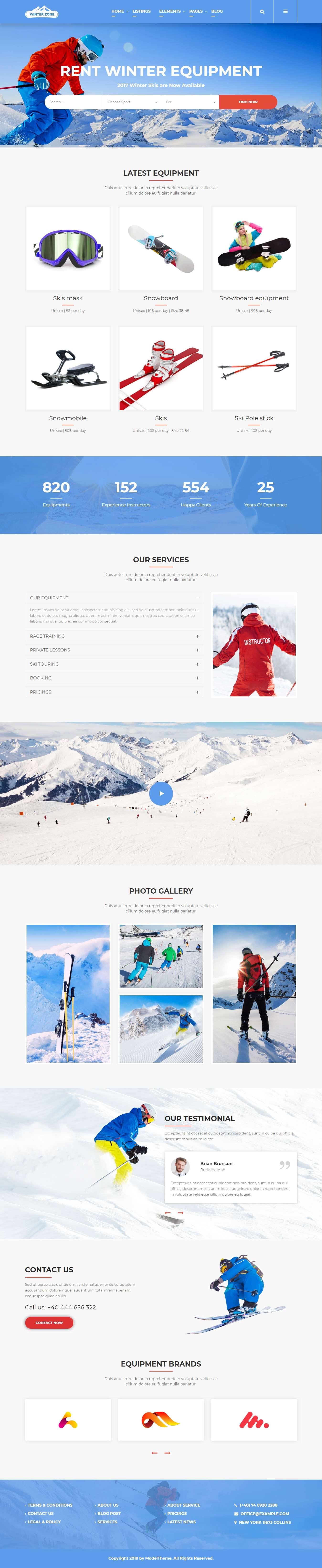 winter zone best premium sports wordpress theme 2 - 10+ Best Premium Sports WordPress Themes