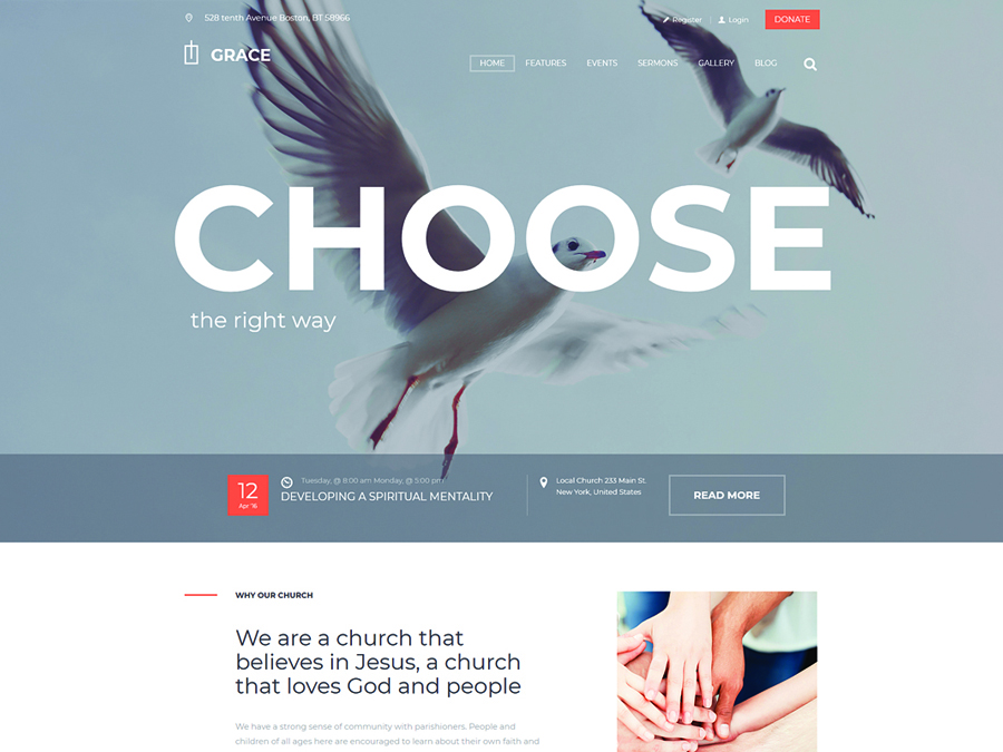 Grace Church Religion WordPress Theme - Switching to the Leading WP Editor with 20 Gutenberg Compatible WordPress Themes