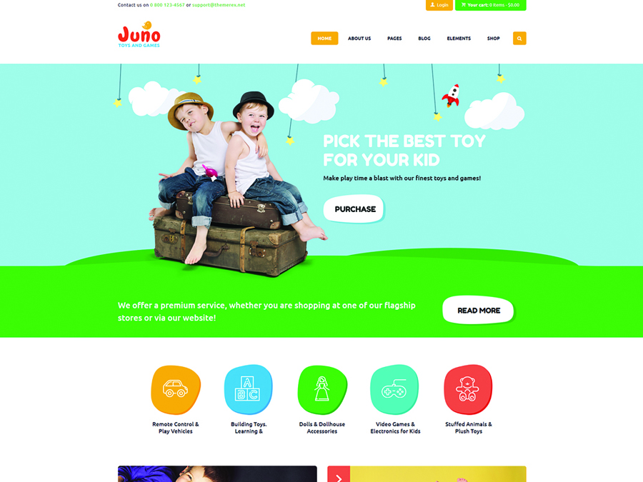 Juno Kids Toys Games Store WordPress Theme - Switching to the Leading WP Editor with 20 Gutenberg Compatible WordPress Themes