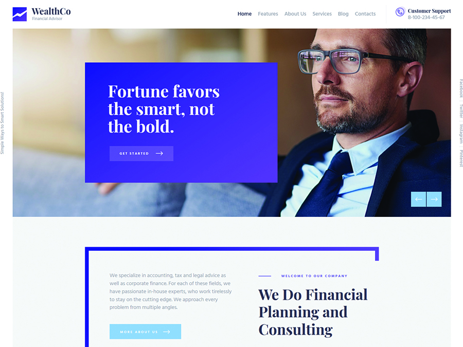 WealthCo A Fresh Business Financial Consulting WordPress Theme - Switching to the Leading WP Editor with 20 Gutenberg Compatible WordPress Themes