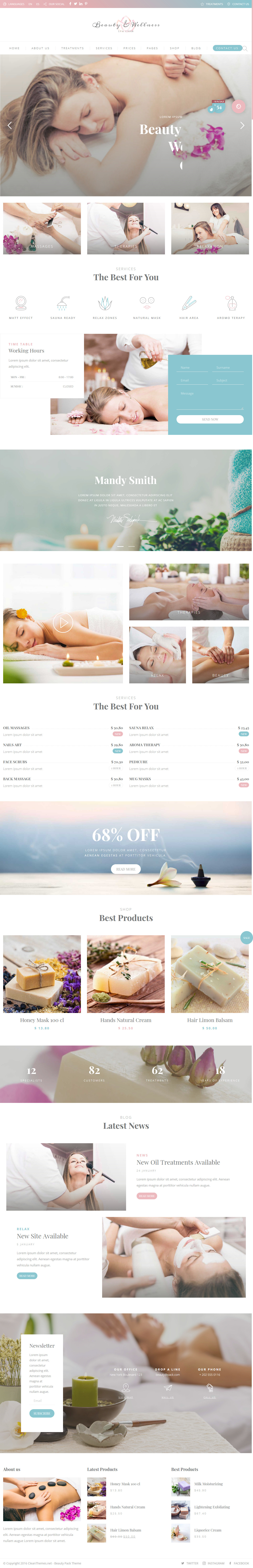 Beauty Pack - Best Premium Spa and Beauty WordPress Theme