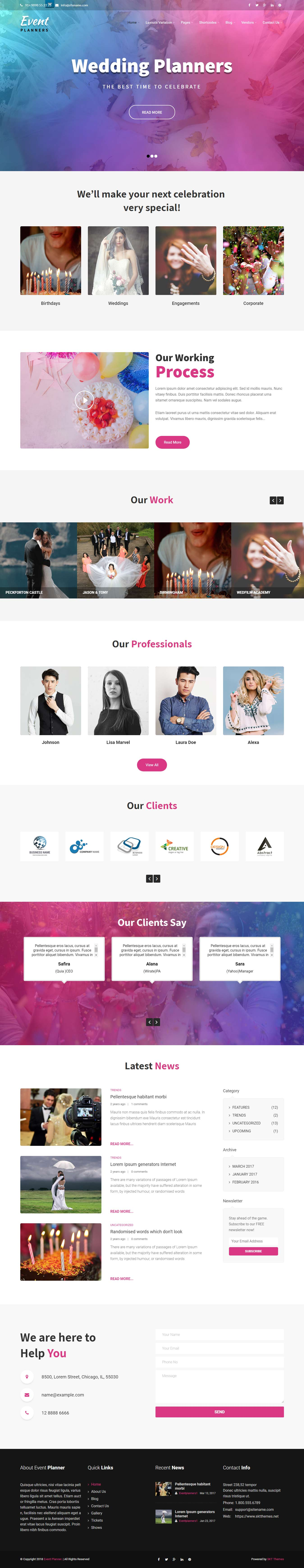 event planners best free event wordpress theme - 10+ Best Free Event WordPress Themes