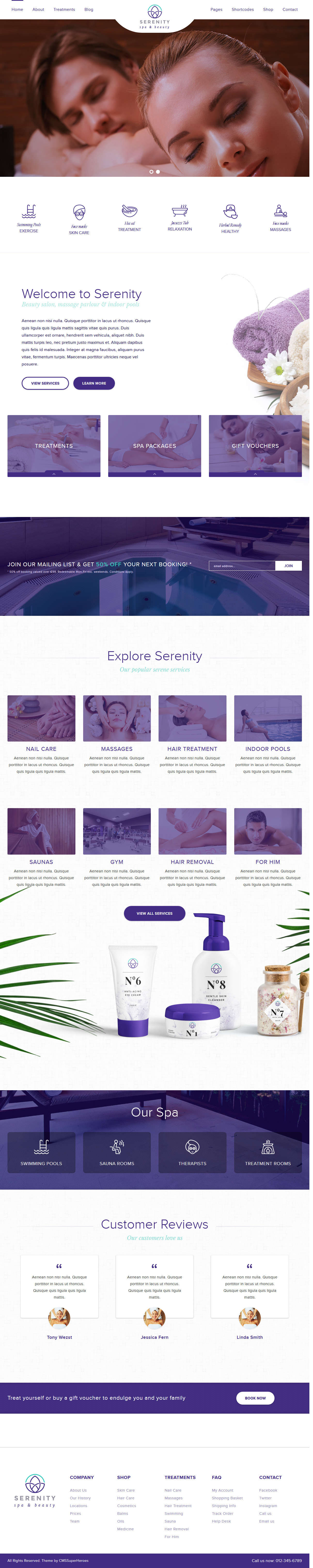 serenity spa beauty best premium spa beauty wordpress theme - 10+ Best Premium Spa and Beauty WordPress Themes