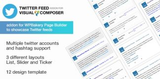 Twitter Feed Addon for Visual Composer - Best WordPress Twitter Feed Extension for WP Bakery Page Builder