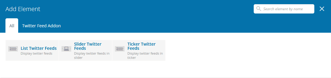 twitter feed view 1024x244 - How to Showcase Twitter Feed for your WP Bakery powered WordPress website?
