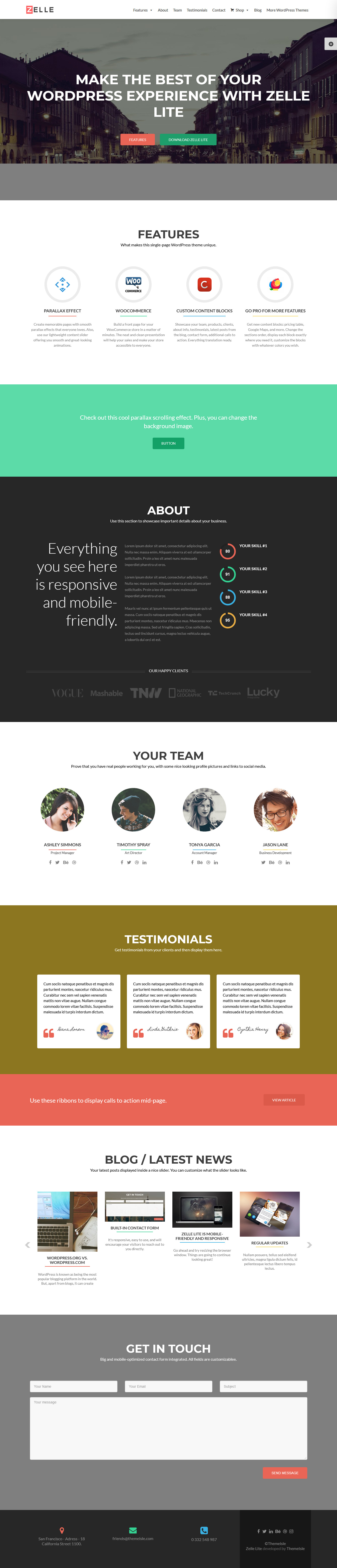 zerif lite best free buddypress wordpress theme - 10+ Best Free BuddyPress WordPress Themes