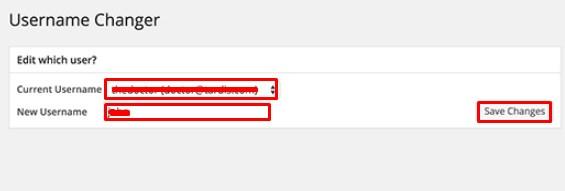 Properly Change the WordPress Username.