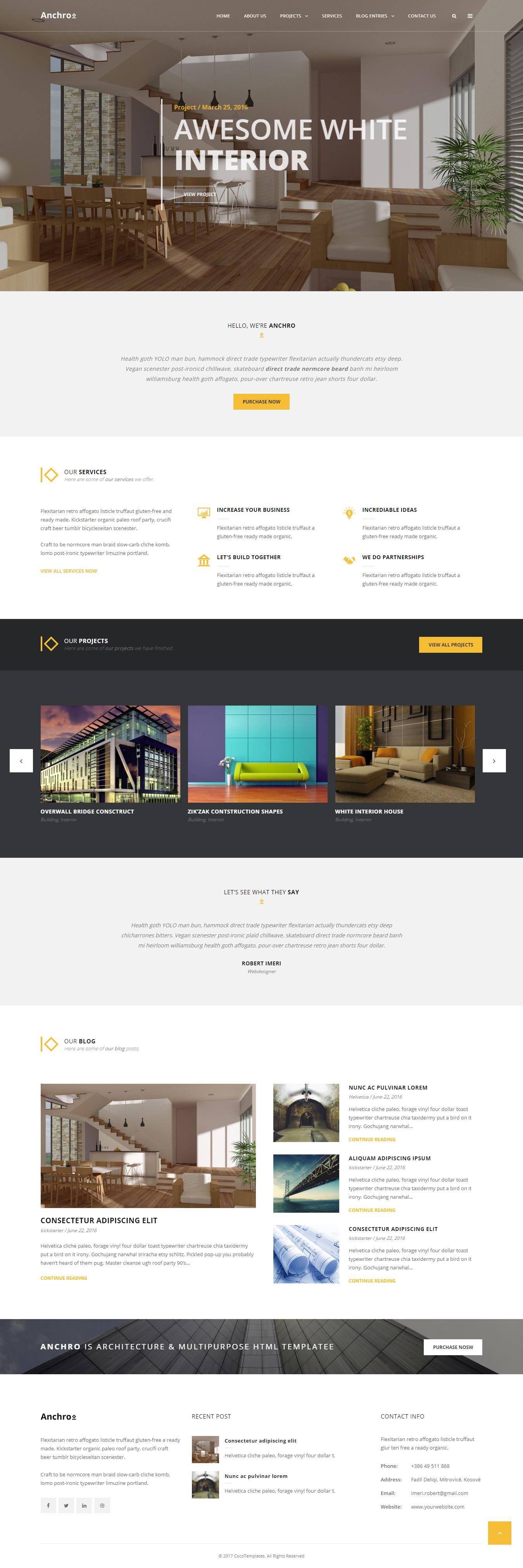 anchro best premium architecture wordpress theme - 10+ Best Premium Architecture WordPress Themes