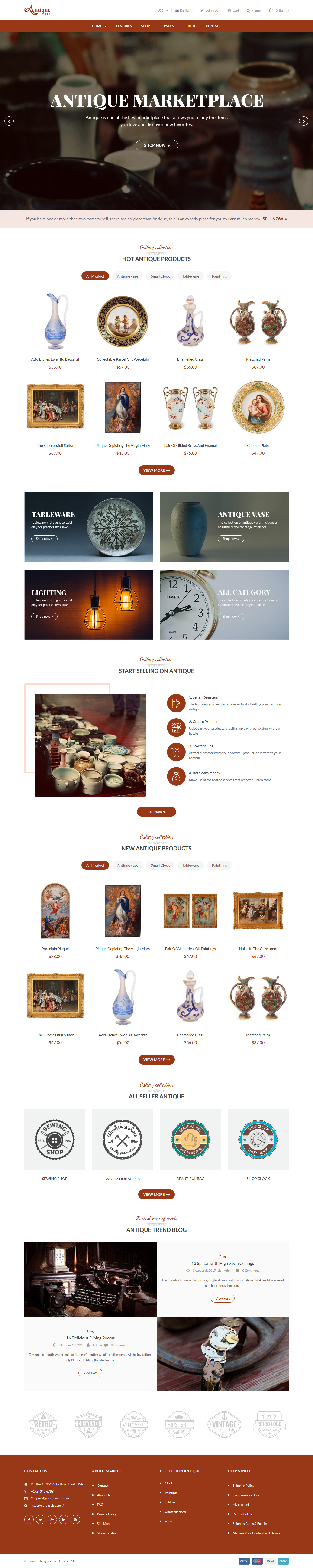 antiquemall best premium marketplace wordpress theme - 10+ Best Premium Marketplace WordPress Themes