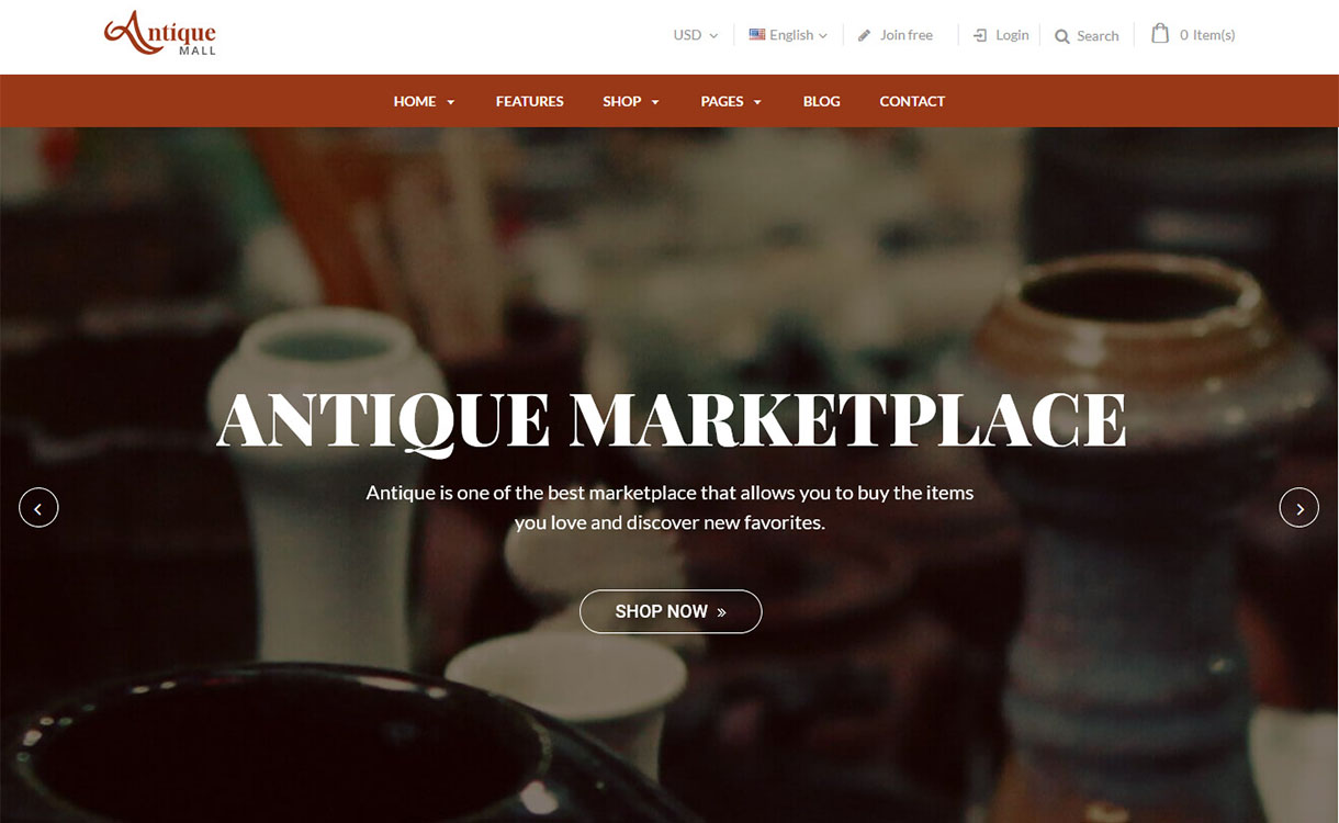 AntiqueMall - Premium Marketplace WordPress Theme
