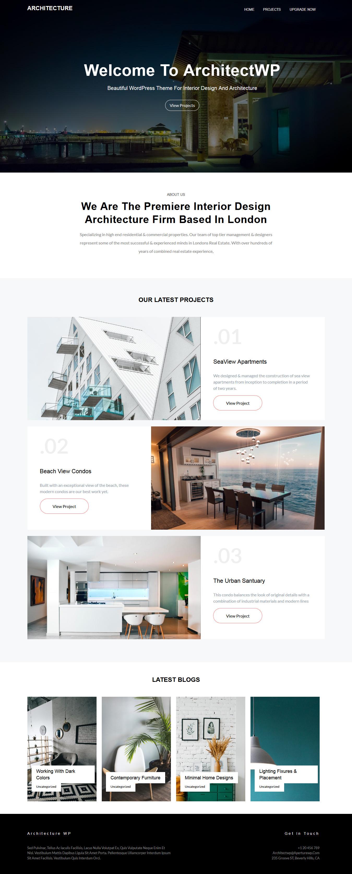 architectwp best free architecture wordpress theme - 10+ Best Free Architecture WordPress Themes