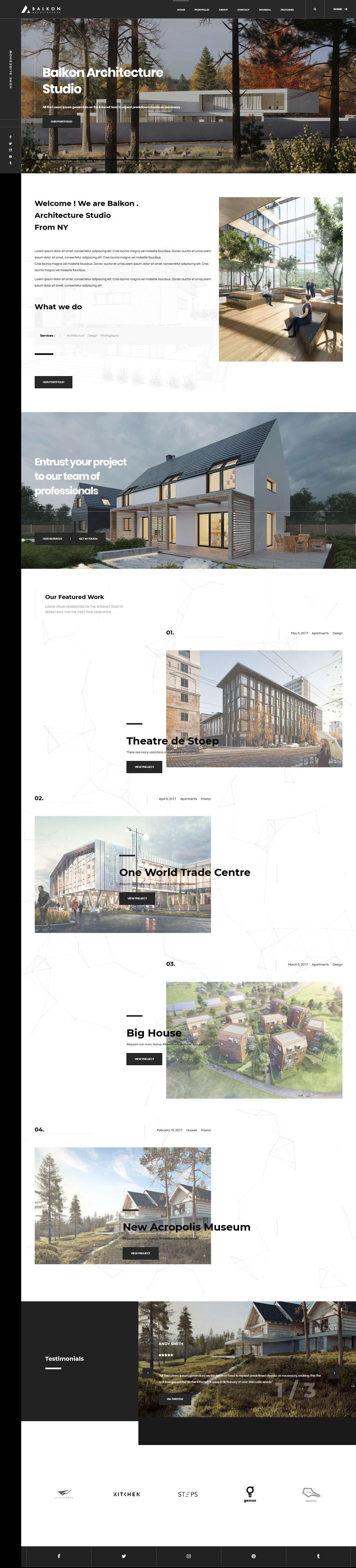 balkon best premium architecture wordpress theme - 10+ Best Premium Architecture WordPress Themes
