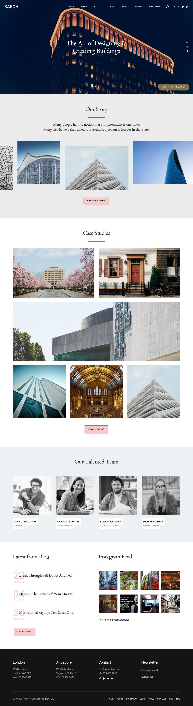 barch best premium architecture wordpress theme - 10+ Best Premium Architecture WordPress Themes