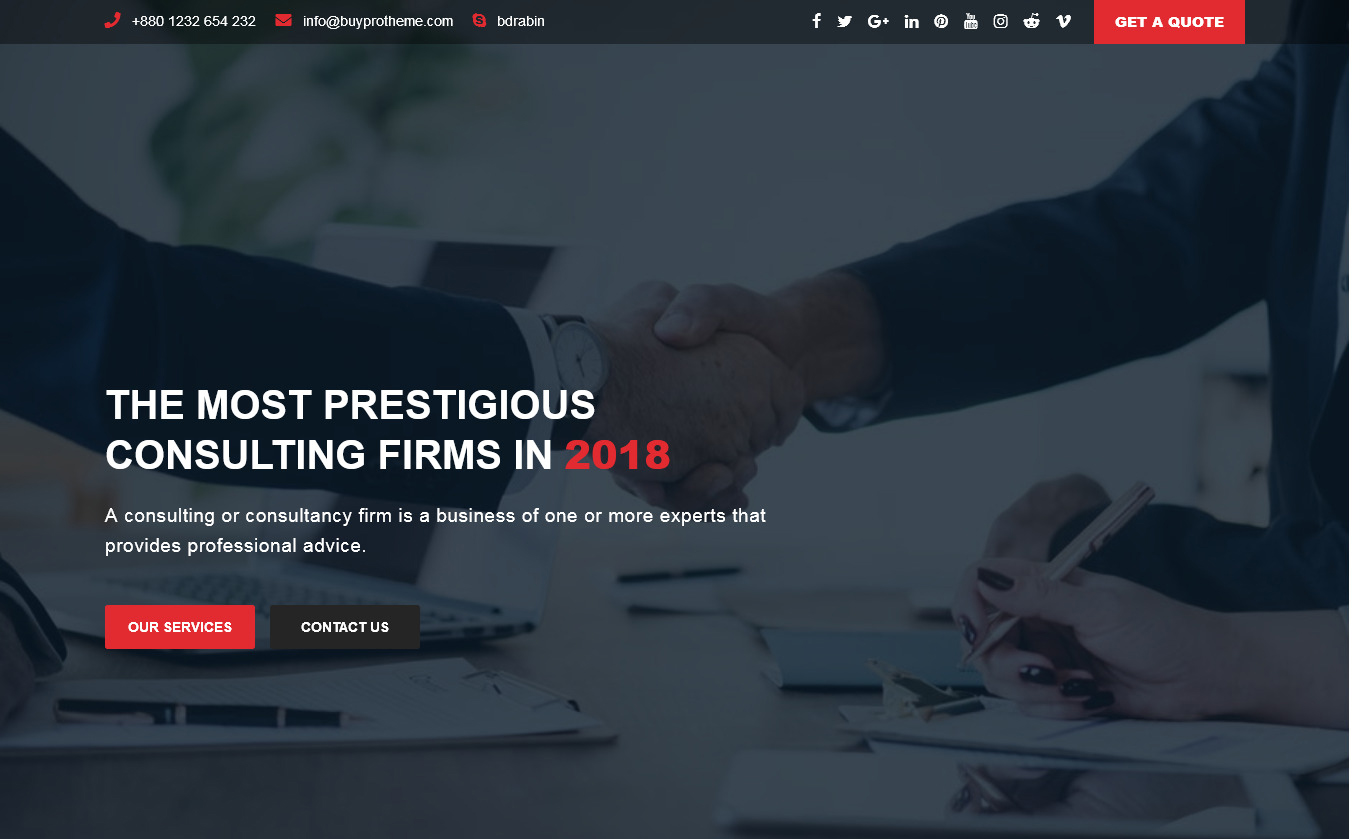bizconsulting - Free Consulting WordPress Theme