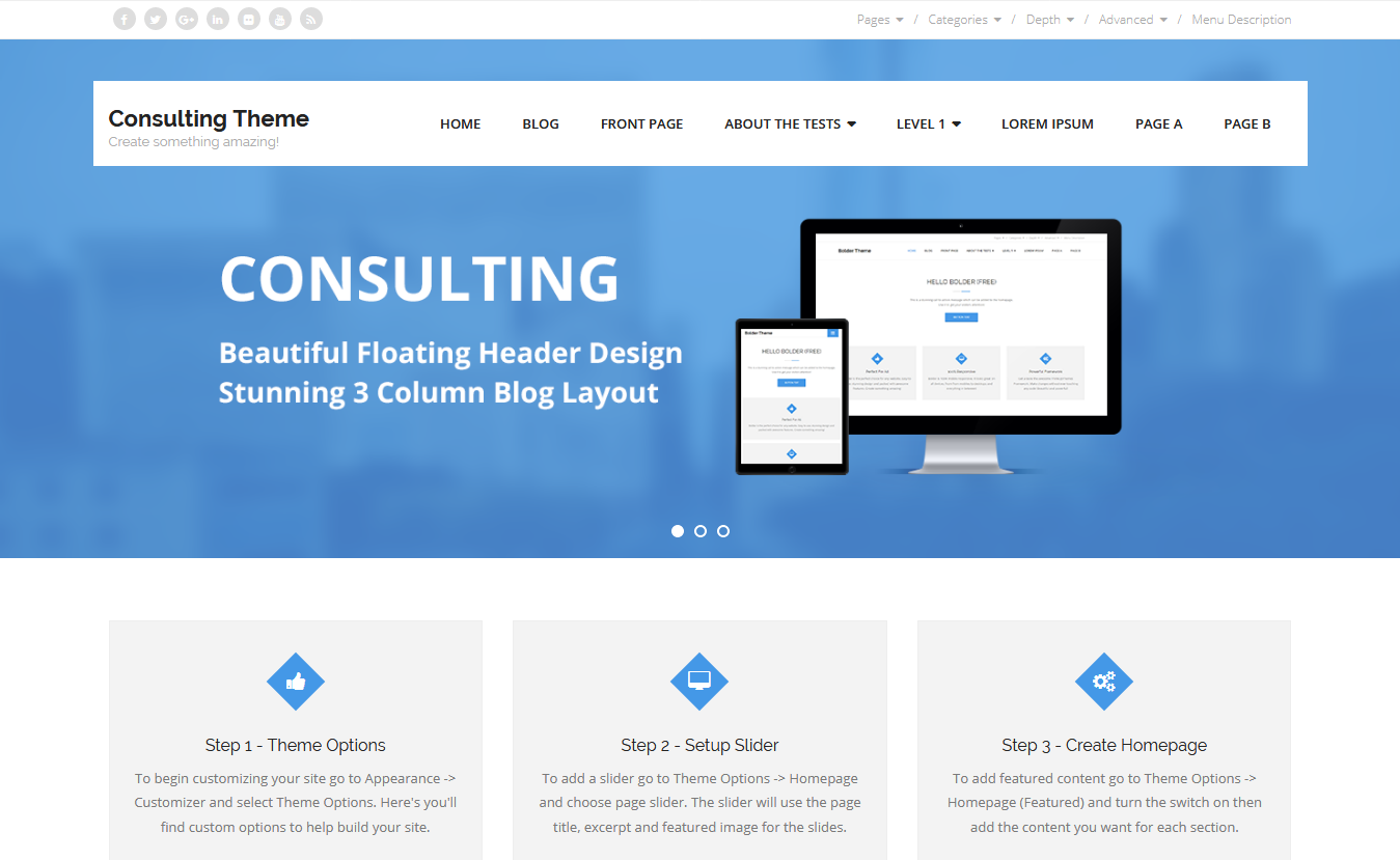 Consulting - Free Consulting WordPress Theme