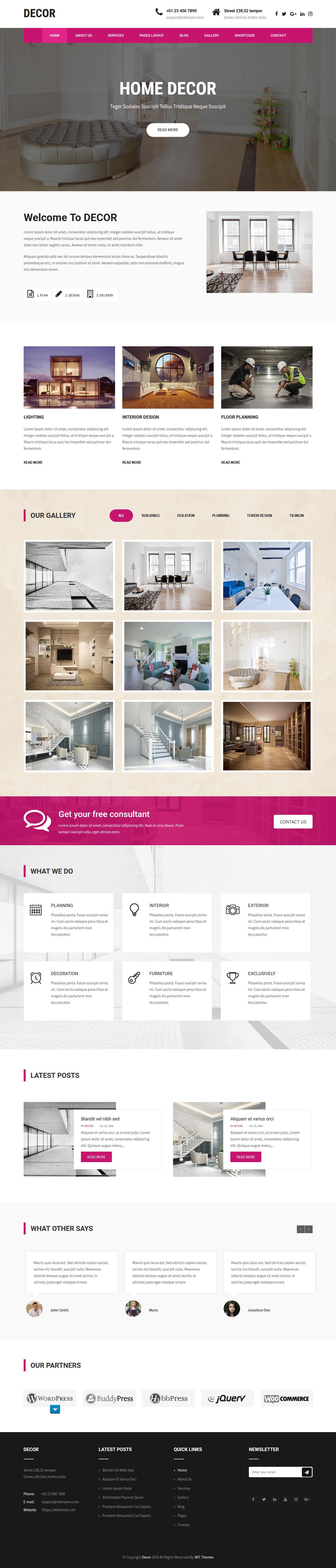 decor lite best free architecture wordpress theme - 10+ Best Free Architecture WordPress Themes