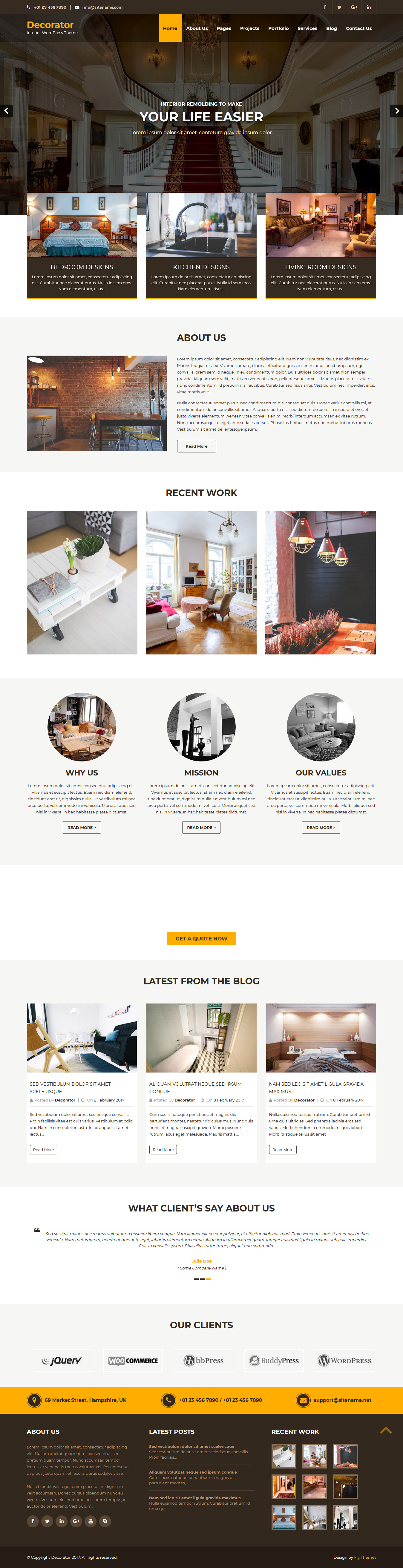 decorator best free architecture wordpress theme - 10+ Best Free Architecture WordPress Themes