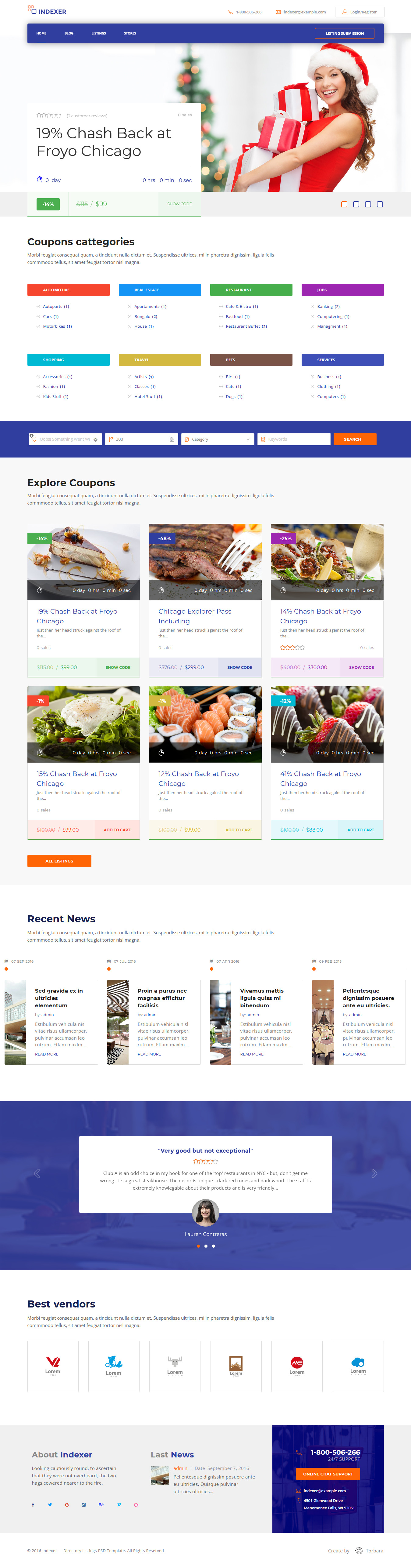 Indexer - Best Premium Marketplace WordPress Themes