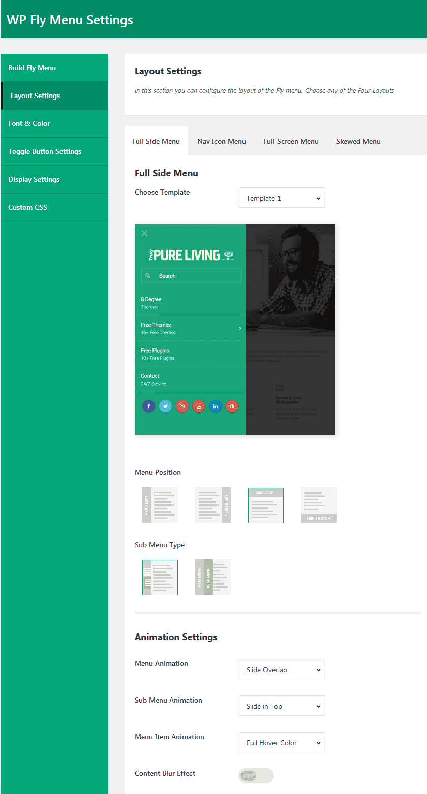 layout settings - How to add Off-Canvas Navigation Menu on WordPress website? (Step By Step Guide)
