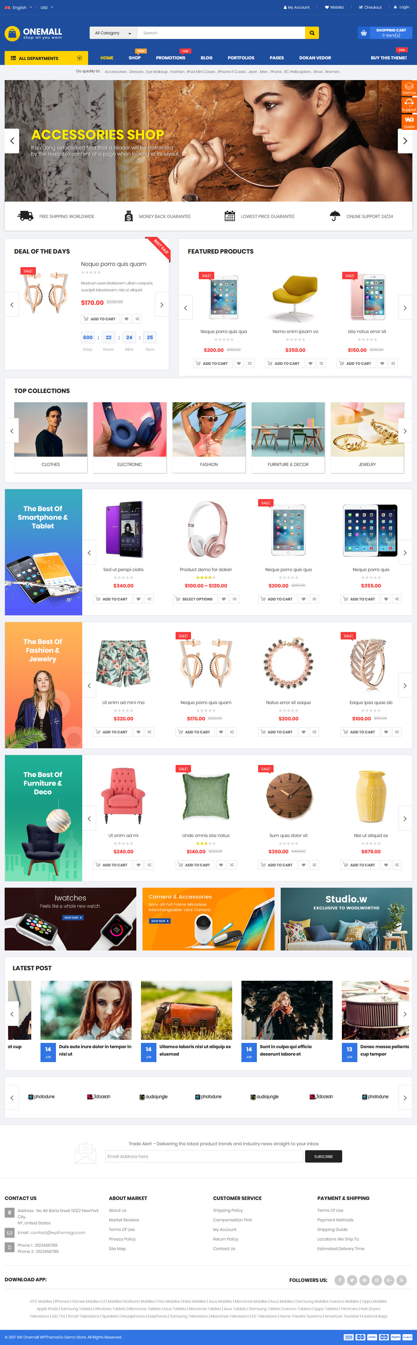 onemall best premium marketplace wordpress theme - 10+ Best Premium Marketplace WordPress Themes