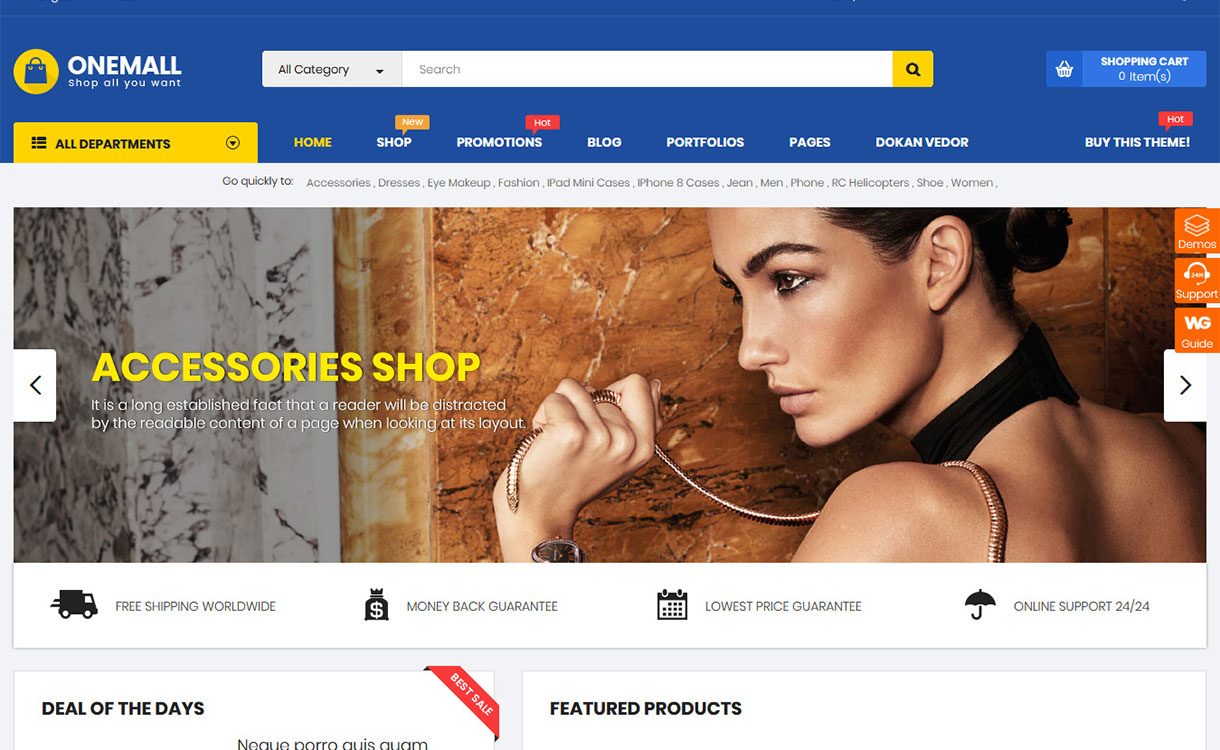 OneMall - Premium Marketplace WordPress Theme