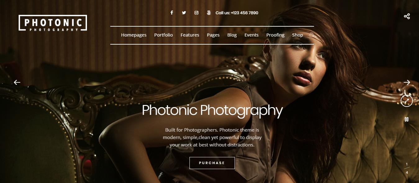 photonic best premium fullscreen wordpress theme - 10+ Best Premium FullScreen WordPress Themes