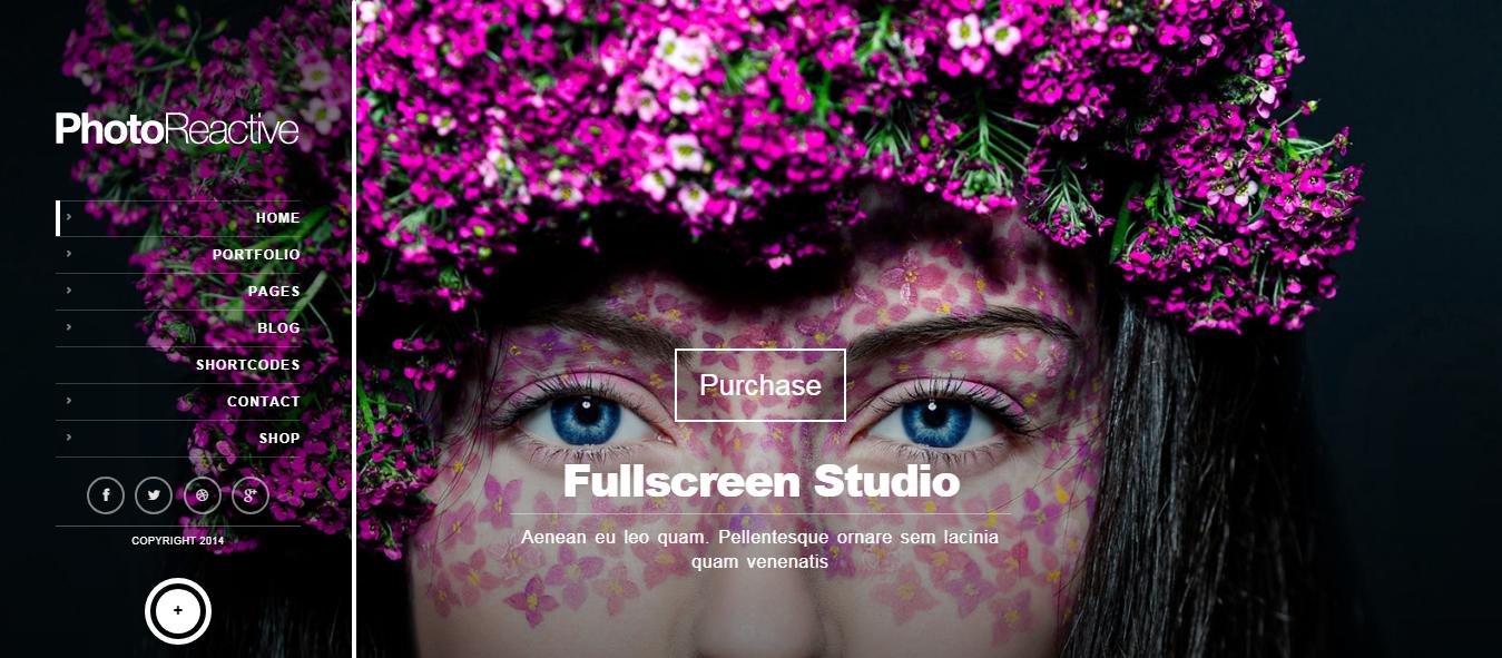 photoreactive best premium fullscreen wordpress theme - 10+ Best Premium FullScreen WordPress Themes