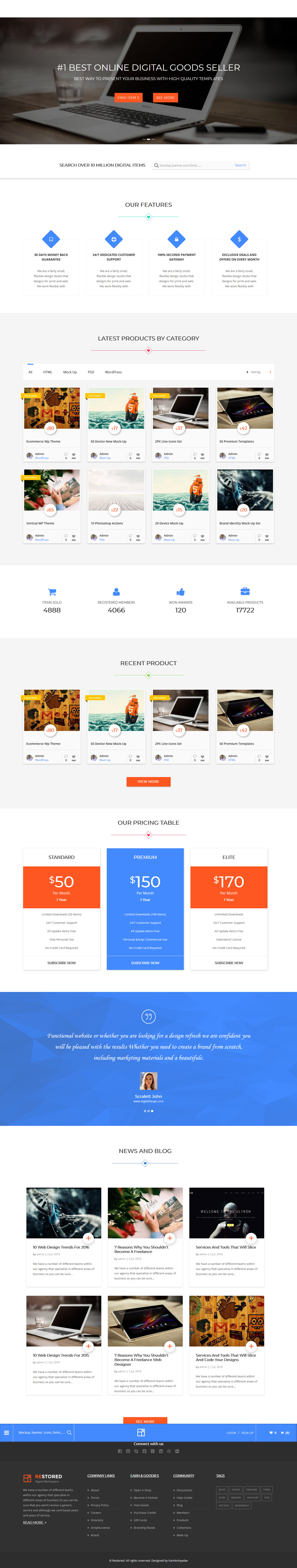 restored marketplace best premium marketplace wordpress theme - 10+ Best Premium Marketplace WordPress Themes