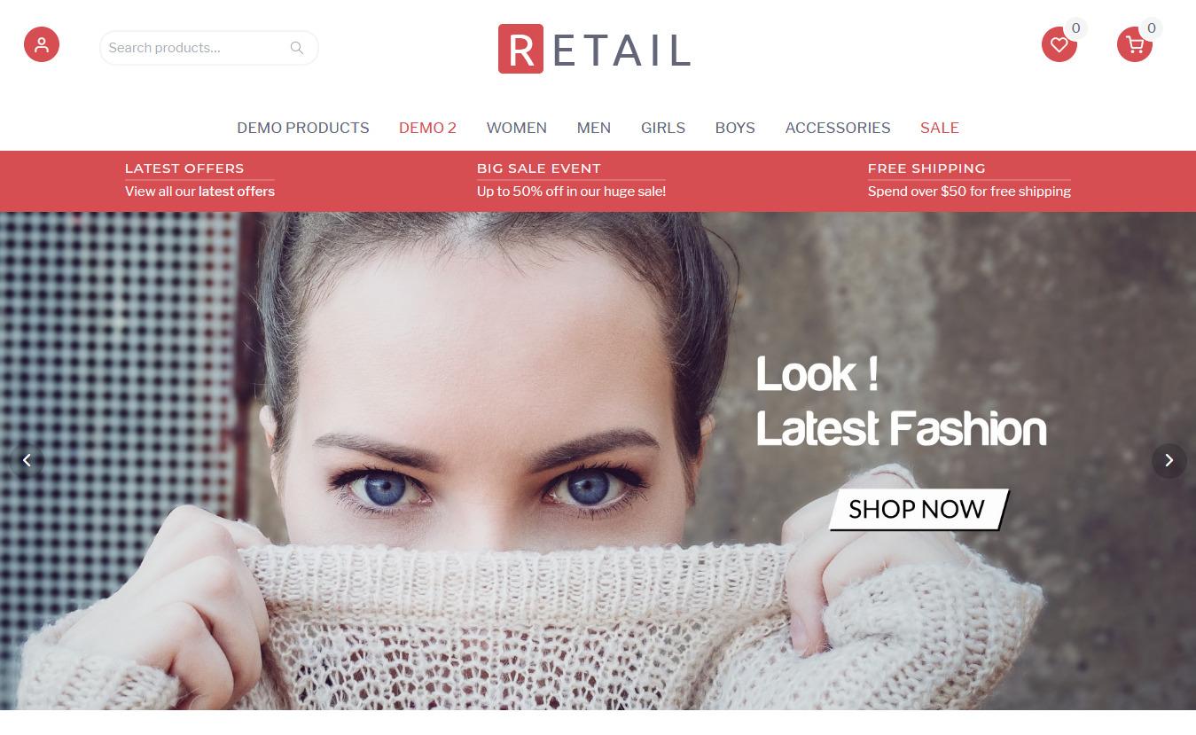 10+ Best Free Retail Shop WordPress Themes