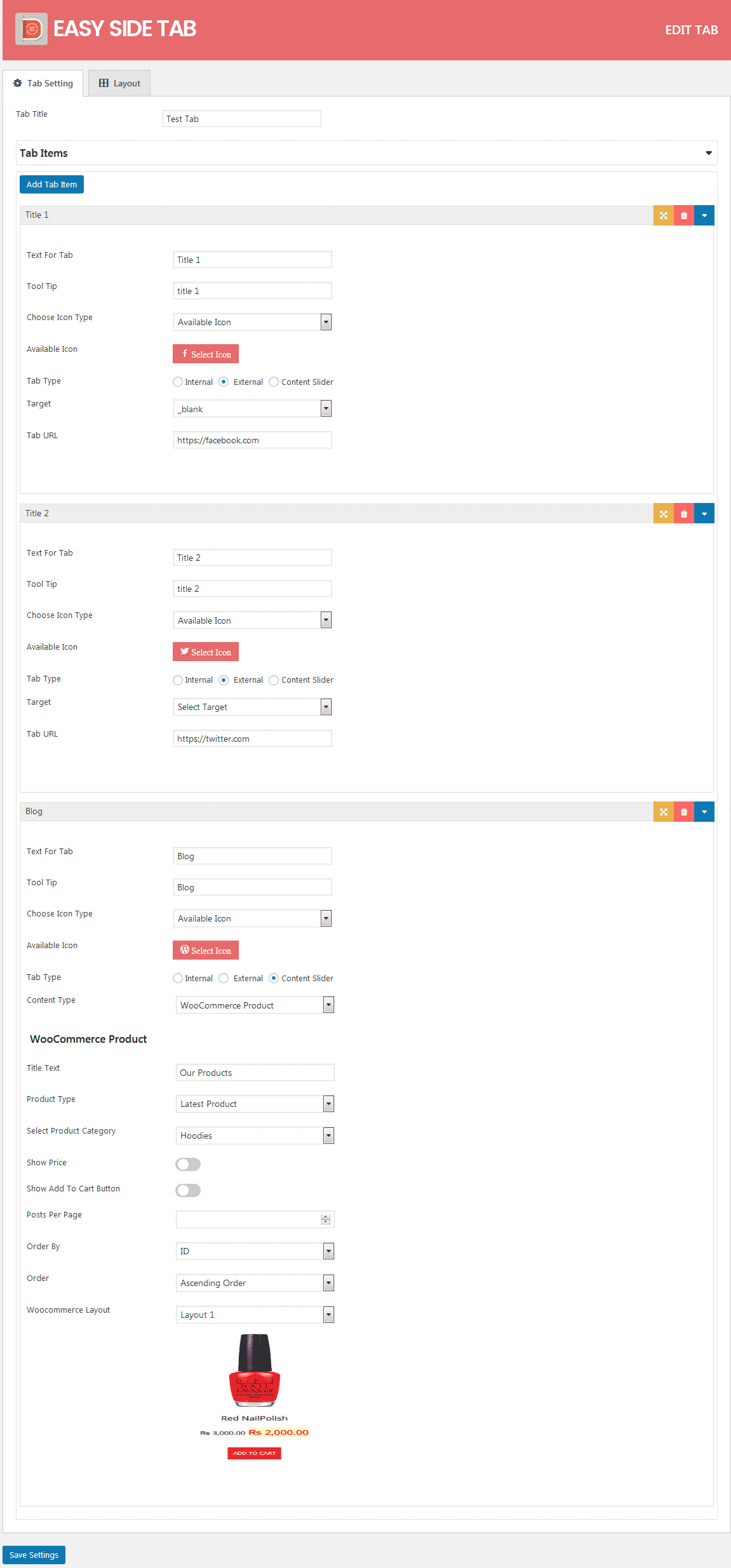tab settings - How to Add a Responsive Floating Tab on WordPress Website? (Step by Step Guide)