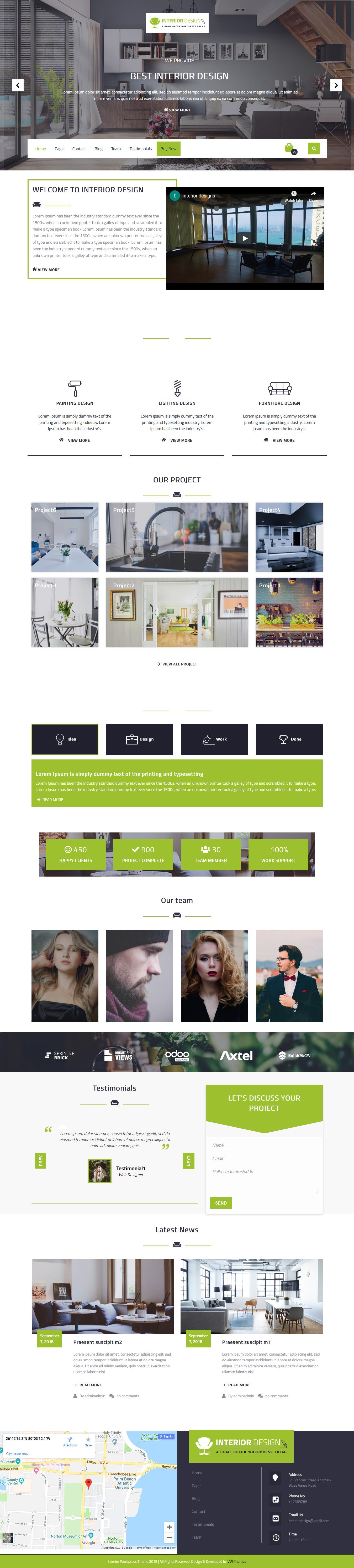 vw interior designs best free architecture wordpress theme - 10+ Best Free Architecture WordPress Themes