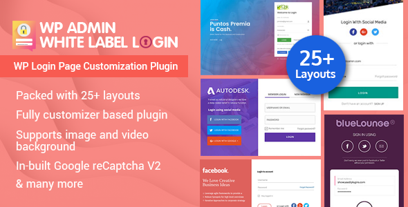 wp admin white label login - 5+ Best WordPress Custom Login Page Plugins (Premium Collection)