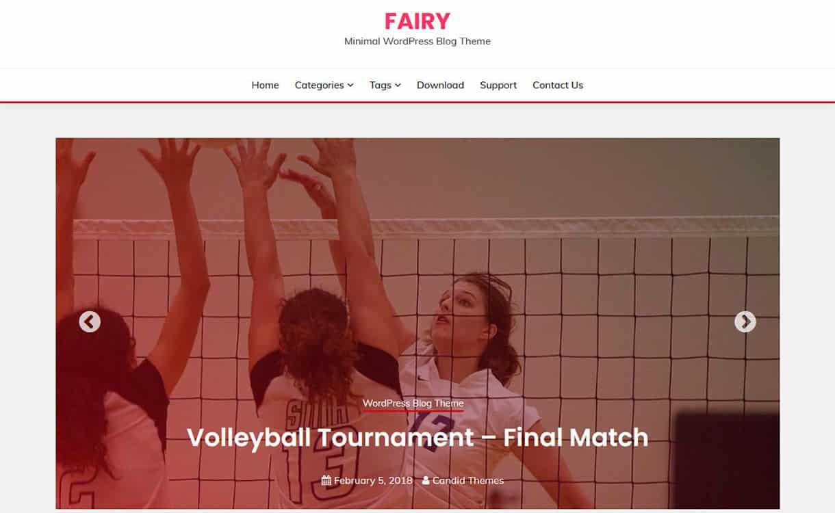 Fairy Free Gutenberg Ready WordPress Theme