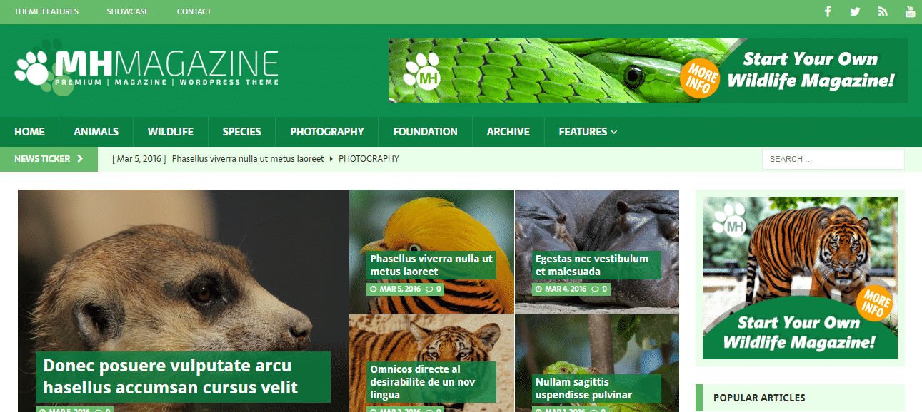 MH Biosphere - Best Free WordPress Animal and Pet Theme