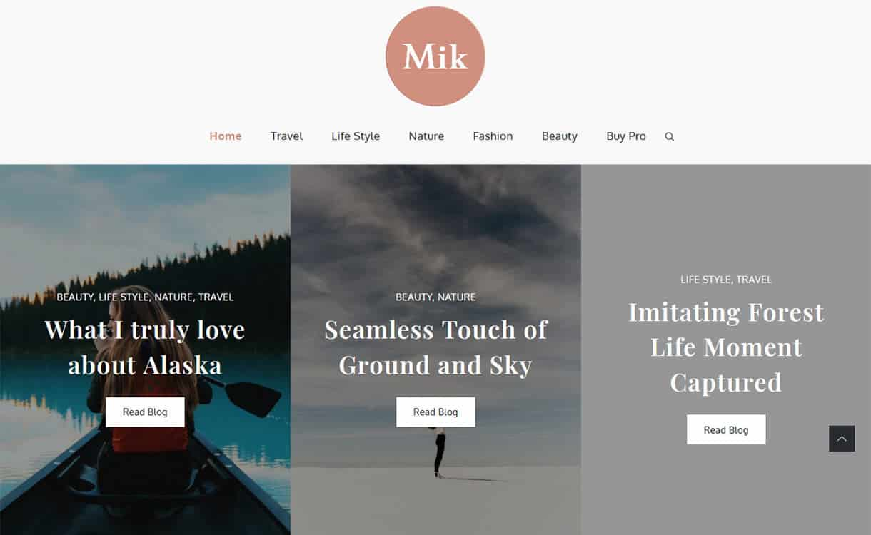Mik Free WordPress Theme