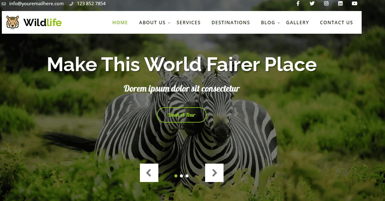 Wildlife Lite - Best Free WordPress Pet and Animal Theme