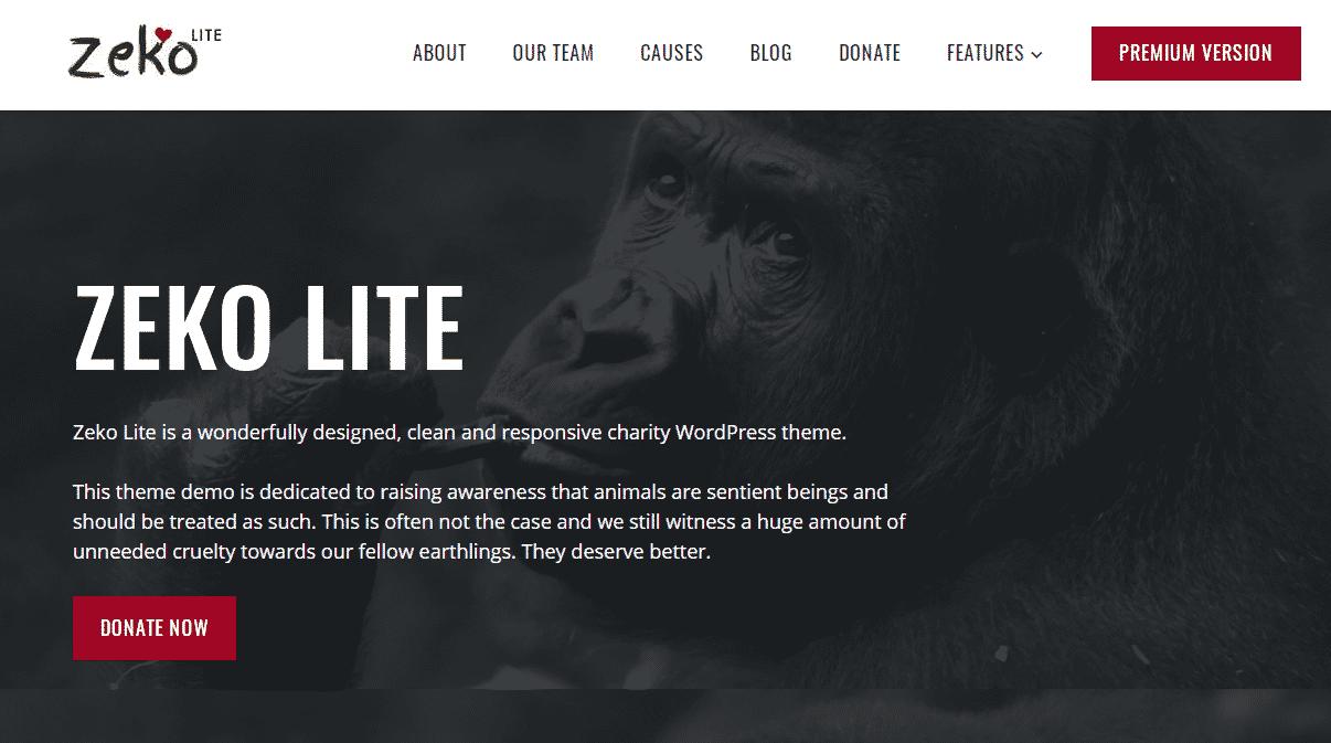 Zeko Lite - Best Free WordPress Animal and Pet Theme