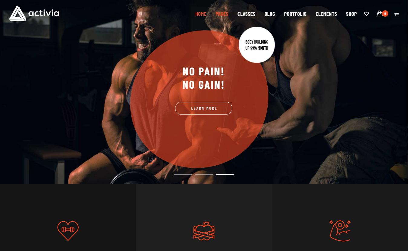 Activia - Best Premium Fitness WordPress Theme