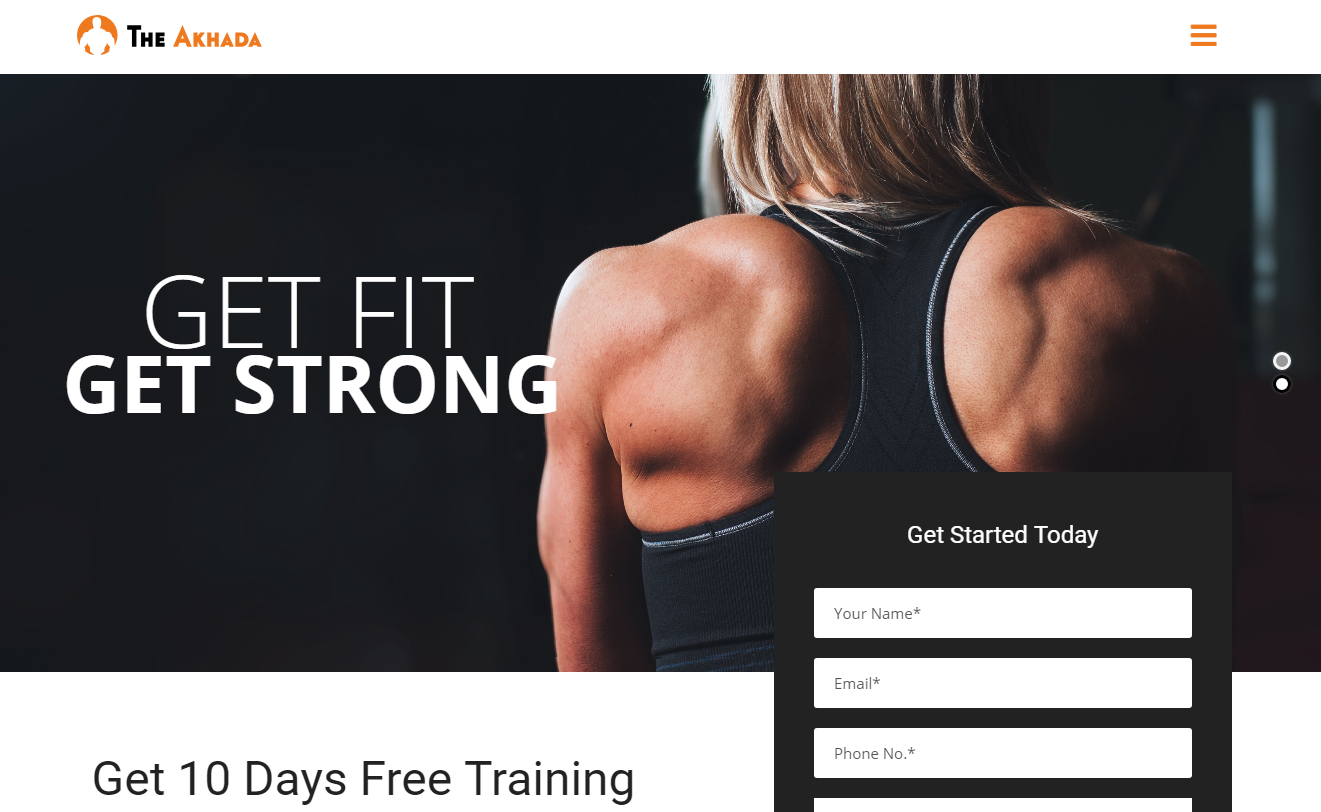 The Akhada - Best Premium Fitness WordPress Theme