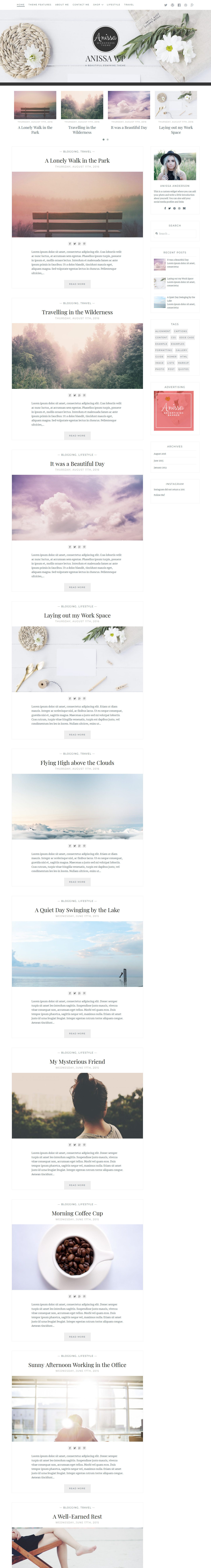 anissa best free feminine wordpress theme - 10+ Best Free Feminine WordPress Themes