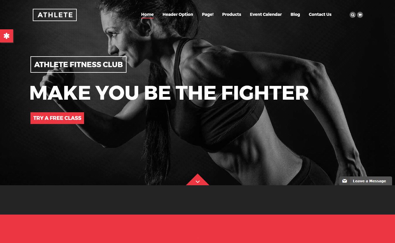 Athlete - Best Premium Fitness WordPress Theme