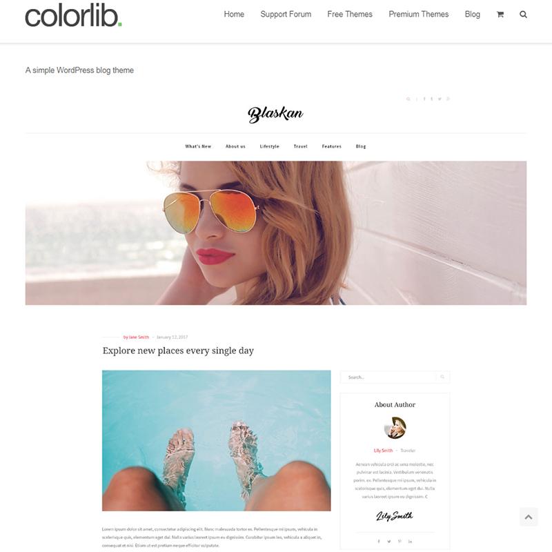 Blaskan - WordPress feminine blog theme