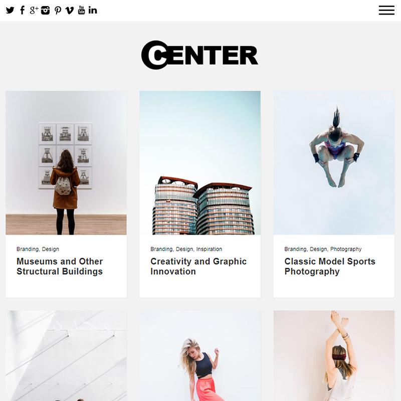 Center - WordPress feminine blog theme