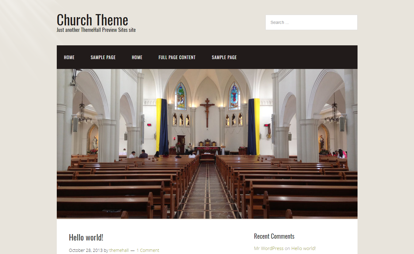 10+ Best Free WordPress Church Themes