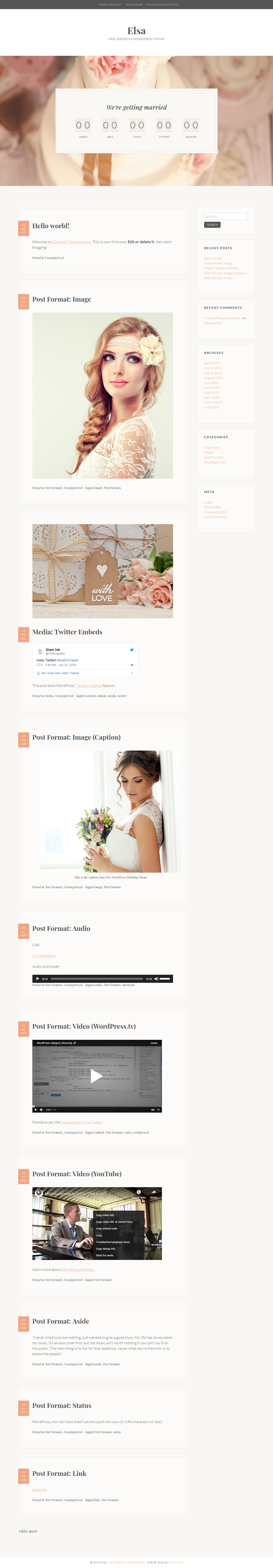 elsa best free feminine wordpress theme - 10+ Best Free Feminine WordPress Themes