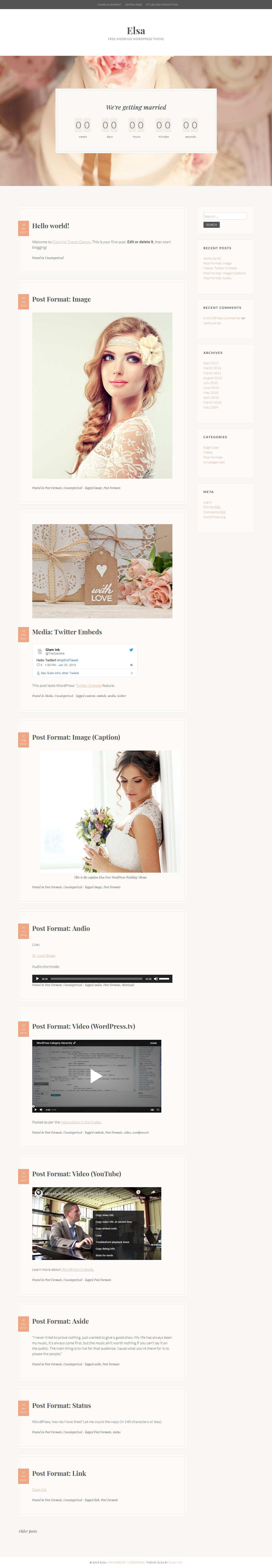 elsa best free feminine wordpress theme - 10+ Best Free Feminine WordPress Themes