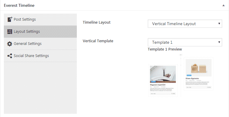 everest timeline lite layout settings - How to Add an Event Timeline on WordPress Website? (Step by Step Guide)