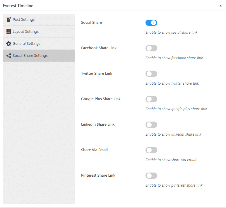 everest timeline lite social share settings - How to Add an Event Timeline on WordPress Website? (Step by Step Guide)