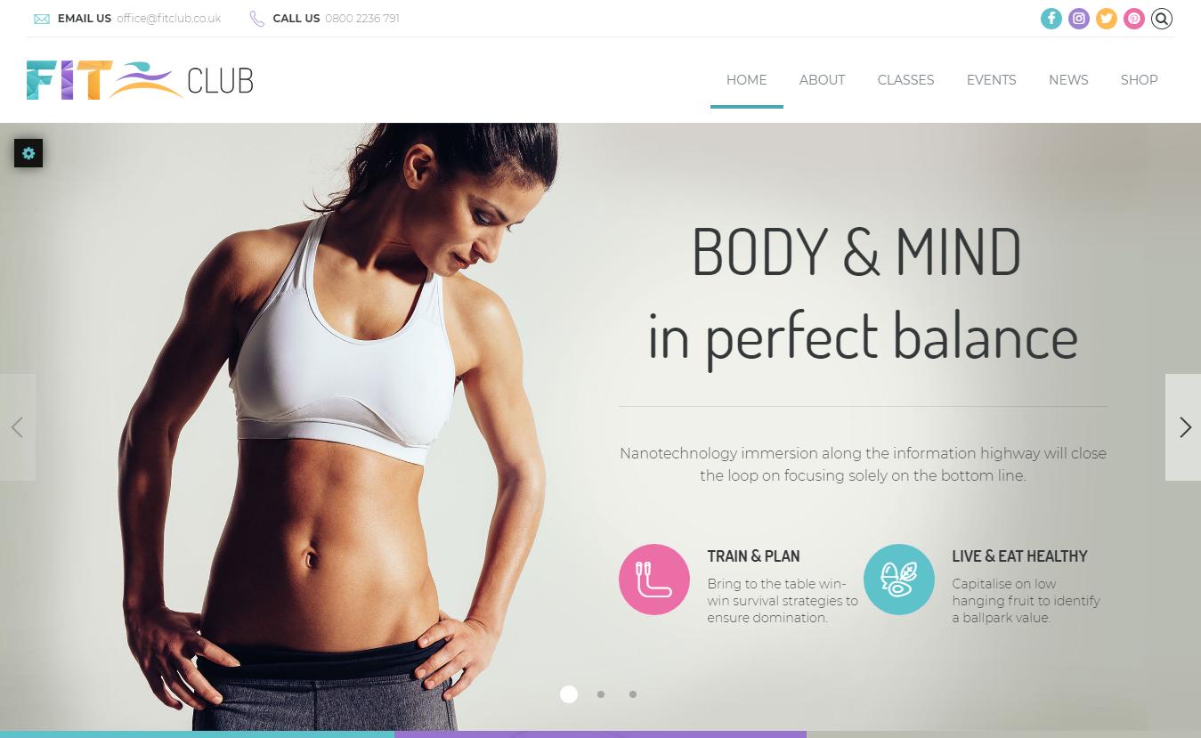 Fitness Club - Best Premium Fitness WordPress Theme