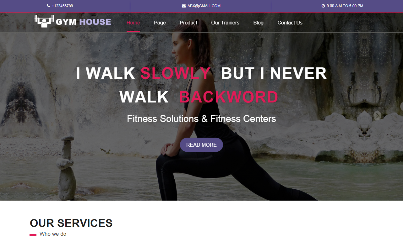 Fitness Gymhouse- Free Fitness WordPress Theme
